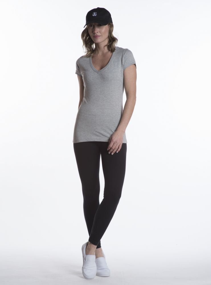 T-Shirt Col en V pour femme